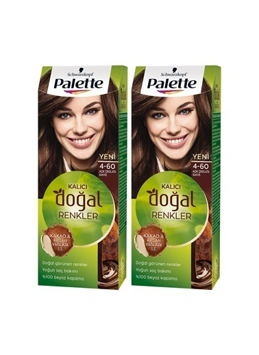 Palette Palette Kalıcı Doğal Renkler 4-60 Altın Kakaox 2 Paket Renkli
